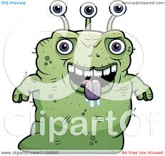 Ugly Green Clipart Ugly Green Alien Royalty Free Vector Illustration By