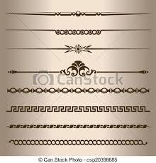 Decorative Line Clip Art Vector Of Decorative Lines Design Elements Dividing Lines And