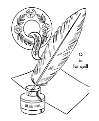 abc alphabet coloring sheets abc quill objects coloring page