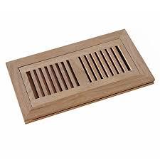 welland 4 inch x 10 inch oak hardwood vent floor register