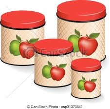 apple kitchen canisters eps vector of kitchen canisters set with apples kitchen