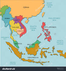 Monsoon Asia Map Download East Asia And Southeast Asia Map Major Tourist