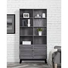 Bookcase With Doors White Bookcases With Doors You Ll Wayfair