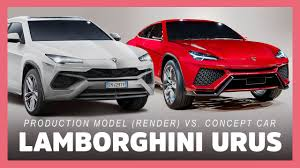 lamborghini concept car 2018 lamborghini urus suv production model vs concept car youtube