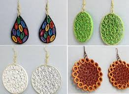 quiling earrings paper quilling earrings designs by barbara chilli