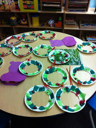 classroom preschool christmas wreath 1st grade asd art projects