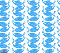 blue fish seamless pattern background free clipart design download