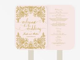 fan program wedding fan program editable ms word template diy pink and
