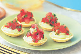 canape recipes avocado canape cups with tomato salsa