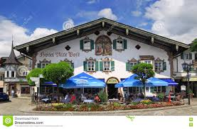 Painted Houses Oberammergau Painted Houses Austria Editorial Stock Photo