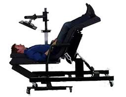 ergonomic lay down desk ergoquest zero gravity chairs and workstations