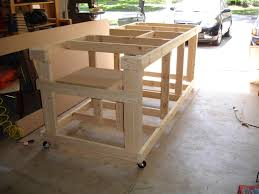 table saw workbench plans my garage workshop ultimate workbench