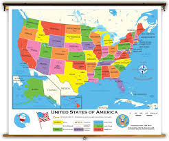 United States Of America Maps by United States Starter Classroom Map From Academia Maps