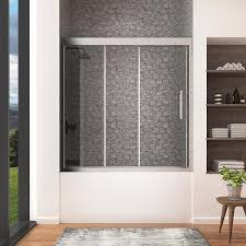 shop bathtub doors at lowes com ove decors granada 59 0 in w x 59 0 in h frameless bathtub door