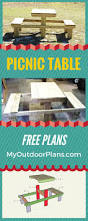 Free Woodworking Plans For Picnic Table by 181 Best Free Woodworking Plans Images On Pinterest Wooden