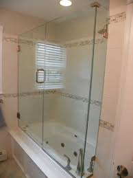 hinged glass shower door shower doors seashore glass and mirror