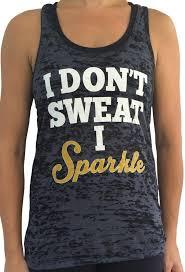 i don t sweat i sparkle tank sorock shop i don t sweat i sparkle black tank the wodrobe