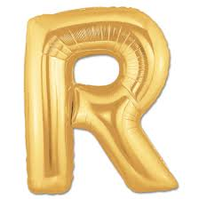 balloon letters letter r gold foil balloon 40 inch inflated balloon shop nyc