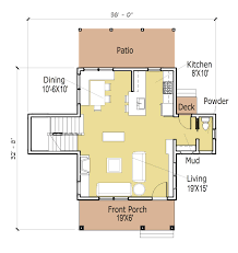 simple open cabin floor plans