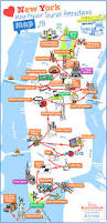 Map Of Ny City New York City Most Popular Attractions Map With Tourist Map Of Nyc
