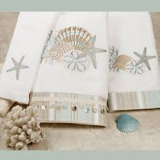 by the sea bath towel set white bath hand fingertip bathroom