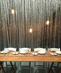 Wedding Photo Booth Backdrop 20ftx10ft Silver Gold Shimmer Sequin Backdrop Sequin Curtains