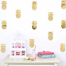 home decor drop shipping aliexpress com buy 8 5 5cm 3d wall sticker mirror pineapple room