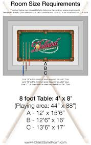 what are the dimensions of a pool table room dimensions for a pool table holland game room