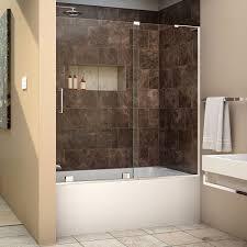 dreamline mirage x 56 60 in width frameless sliding tub door 3