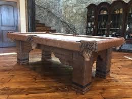 khaki pool table felt log pool tables rustic billiards
