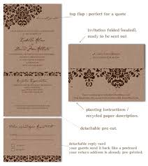 recycled wedding invitations dan s mask vintage edition