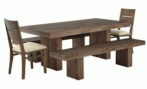 awesome rustic rectangle dark brown wooden dining table set with
