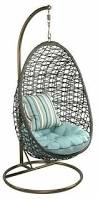 Patio Chair Swing Outdoor Furniture Rattan Egg Swing Chair With Comfortable Cushion