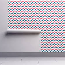 isobar durable wallpaper featuring coral u0026 teal chevron by