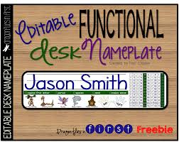 baby name plates desk nameplate freebie