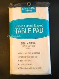 flannel backed vinyl table pad elrene dining table protector pad 52x108 flannel backed vinyl spill