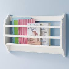 White Sling Bookshelf The Land Of Nod Kids U0027 Shelves Kids White Wall Book Bin In Shelf