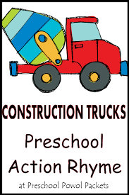 c is for construction trucks preschool action rhyme preschool