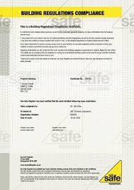building regulations certificates gas safe register gas safe