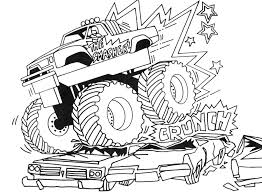 Monster Trucks Coloring Pages Bestofcoloring Com Coloring Truck Pages