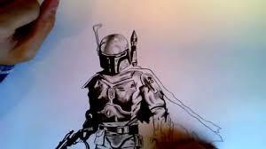 zeichnen speed drawing star wars boba fett youtube