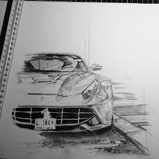 ferrari drawing ferrari f12 berlinetta drawing unfinished by kjvthebeast on
