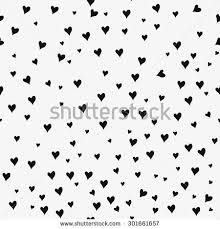 seamless patterns black hearts seamless background stock vector