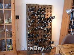 very old champagne riddling rack for 60 wine bottles big oak