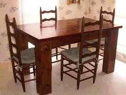 Kitchen Table Building Plans by Kitchen Table Plans Diywoodtableplans
