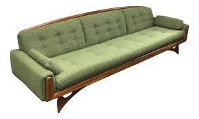 kroehler green tweed sofa chairish