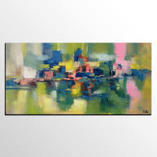 abstract painting original wall art canvas art dining room wall