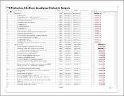 it infrastructure u0026 software development schedule template in ms