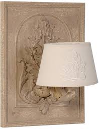 french stately shabby chic wall lamp cream linen shade wall lights