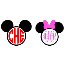 minnie mouse monogram mickey mouse monogram svg minnie mouse monogram svg monogram